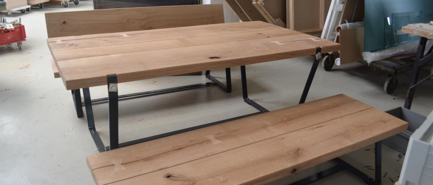 Gartentisch Bänke Eichenholz Bau Möbeltischlerei Behrendt